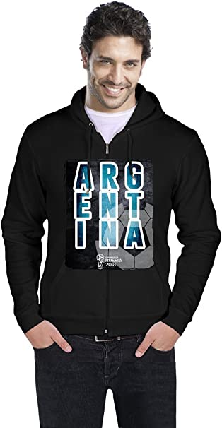 2018 Fooball World Cup Merch World Cup 2018 Football Argentina Sudadera con Capucha Hombres Men Zipper