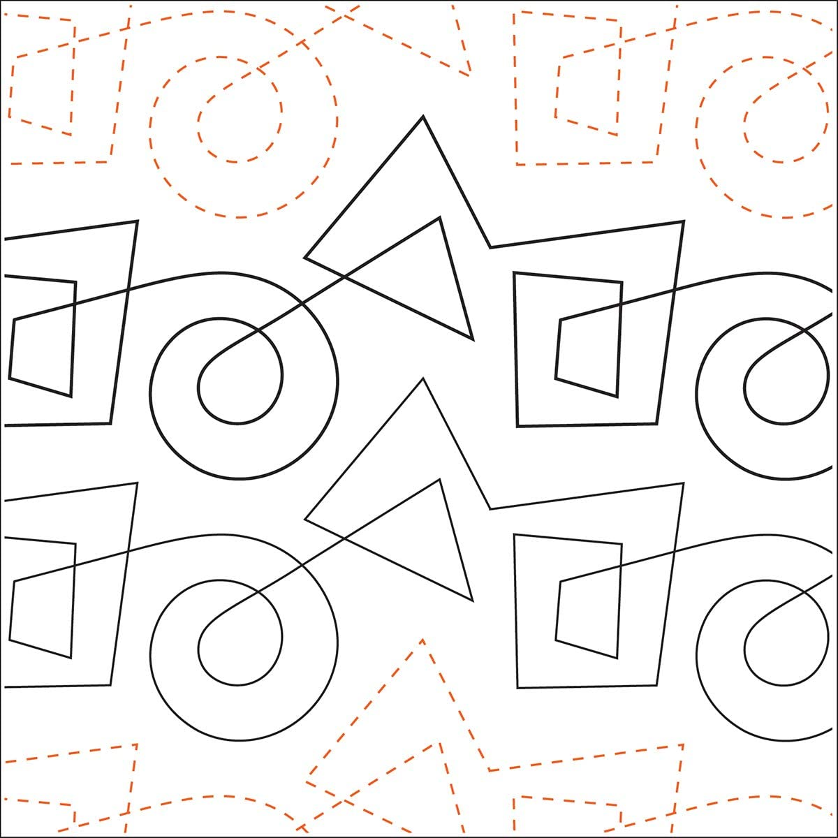 Sten Source UTA-1029 Printed Tear Away Quilting Paper 4 Pack