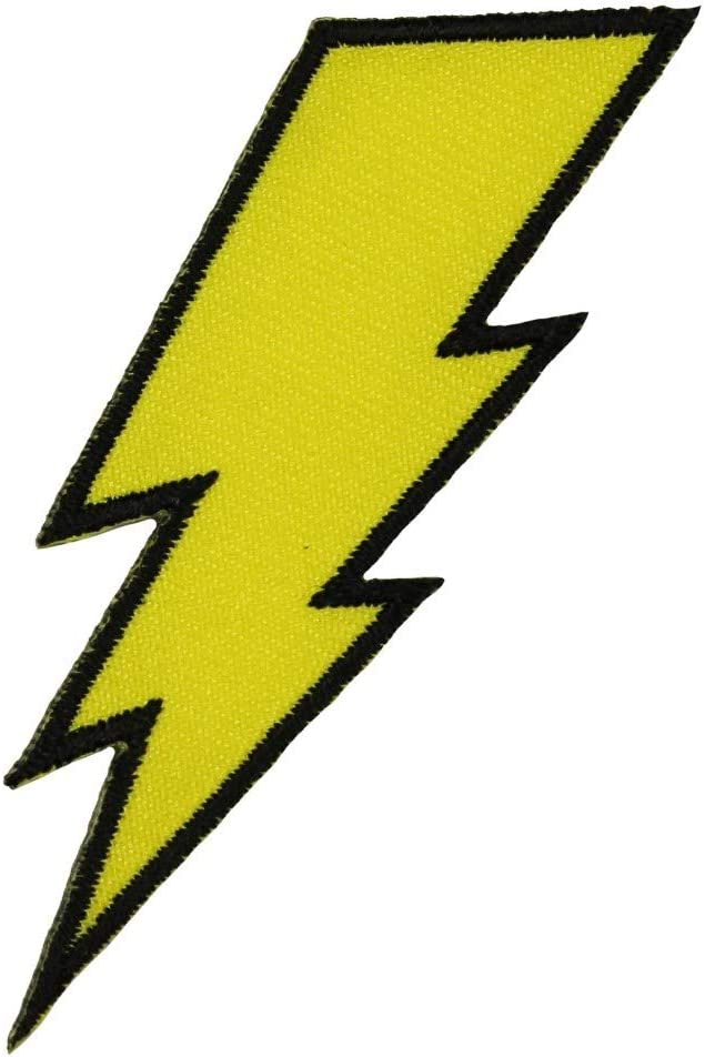 Amazon Com Lightning Bolt Patch Symbol Electric Zap Icon Flash Strike Iron On Applique Arts Crafts Sewing