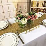 TRLYC 13x72 Inch Sparkly Gold Sequin Table Runner,Sequin Tablelcoth Gold