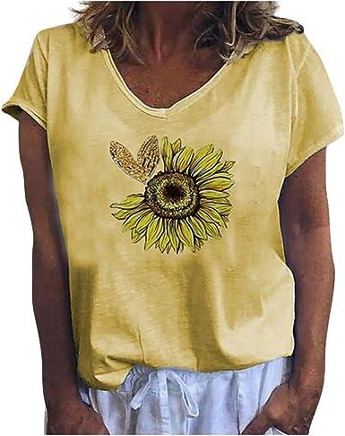 Camisetas Mujer Manga Corta Verano 2020 Casual,Blusa De Manga ...