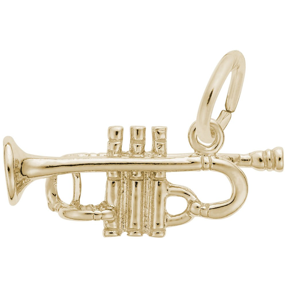Rembrandt Charms, Trumpet, 14K Yellow Gold by Rembrandt Charms
