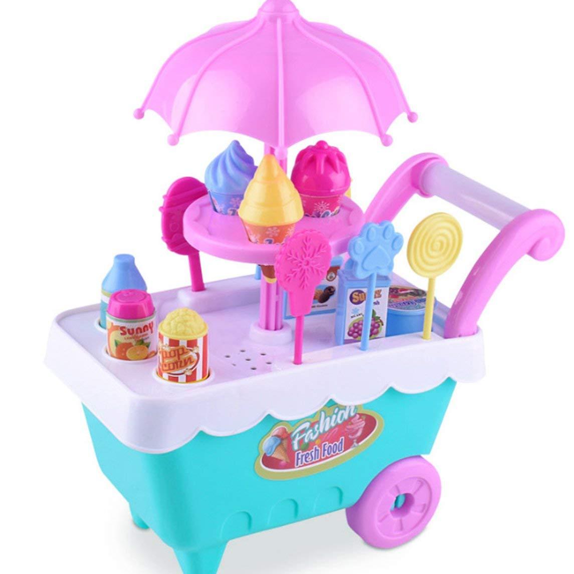 Footprintes Kinder Pretend Rollenspiel Spielzeug Simulation Eiswagen Set Lernen Lernspielzeug für Kinder Geburtstagsgeschenk
