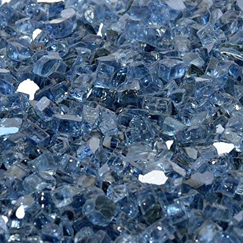 1/2'' Blue Lagoon Metallic / Pacific Blue Reflective Fireglass 10 Pound Bag by Fire On Glass