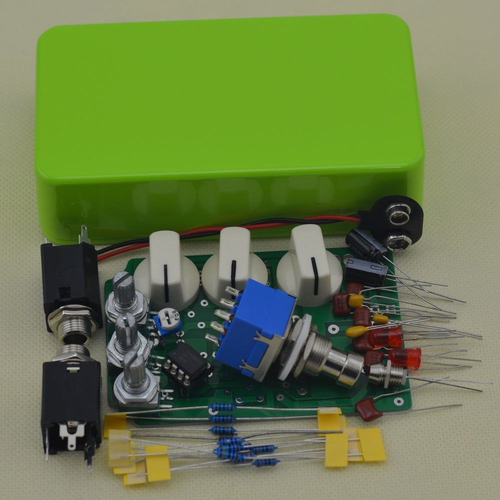 TTONE DIY Distortion DS-1 Guitar Pedal Effects Stompbox Kit Green No Holes