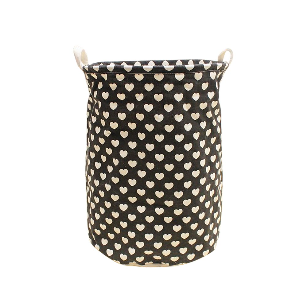 Laundry Hamper Home Dirty Clothes Clean Storage Brown With Lip bamboo Basket