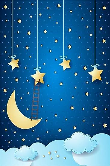 Amazoncom OFILA Twinkle Stars Backdrop 3x5ft Cartoon Wallpaper
