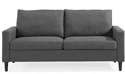 Modern contemporary furniture retro Antique Indoor 2seater Furniture Living Room Modern Design Sofa Couch Grey Woven Fabric Modern Retro Williambubenikinfo Amazoncom Indoor 2seater Furniture Living Room Modern Design Sofa