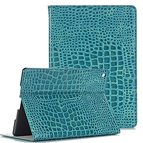 iPad case for ipad mini 1/2/3, Vacio Luxury Book Style PU Leather Folio Stylish Stand Case Cover for ipad mini 1/2/3 (Sky Blue) by Vacio
