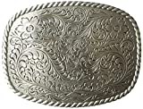 Nocona Men's Rounded Square Buckle, Silver, One Size