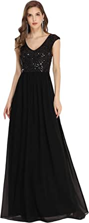 Ever-Pretty Womens Sequin and Chiffon A Line Formal Evening Dresses 0373