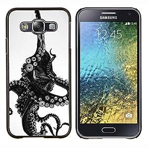 Eason Shop / Premium SLIM PC / Aliminium Casa Carcasa Funda Case Bandera Cover - Monstruo Negro Blanco Animal Mar - For Samsung Galaxy E5 E500