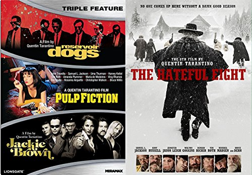 The Hateful Eight + Reservoir Dogs, Pulp Fiction & Jackie Brown DVD Quentin Tarantino Collection