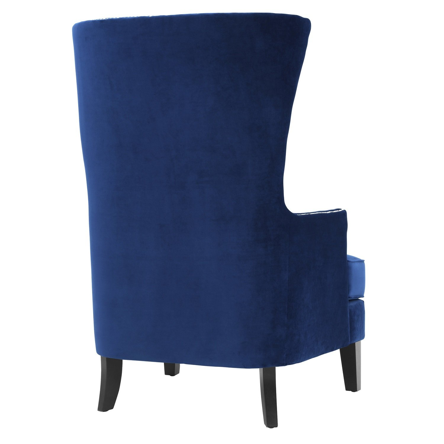 Amazon com tov furniture the bristol collection contemporary velvet upholstered tall living room parlor chair with nailhead trim navy kitchen dining