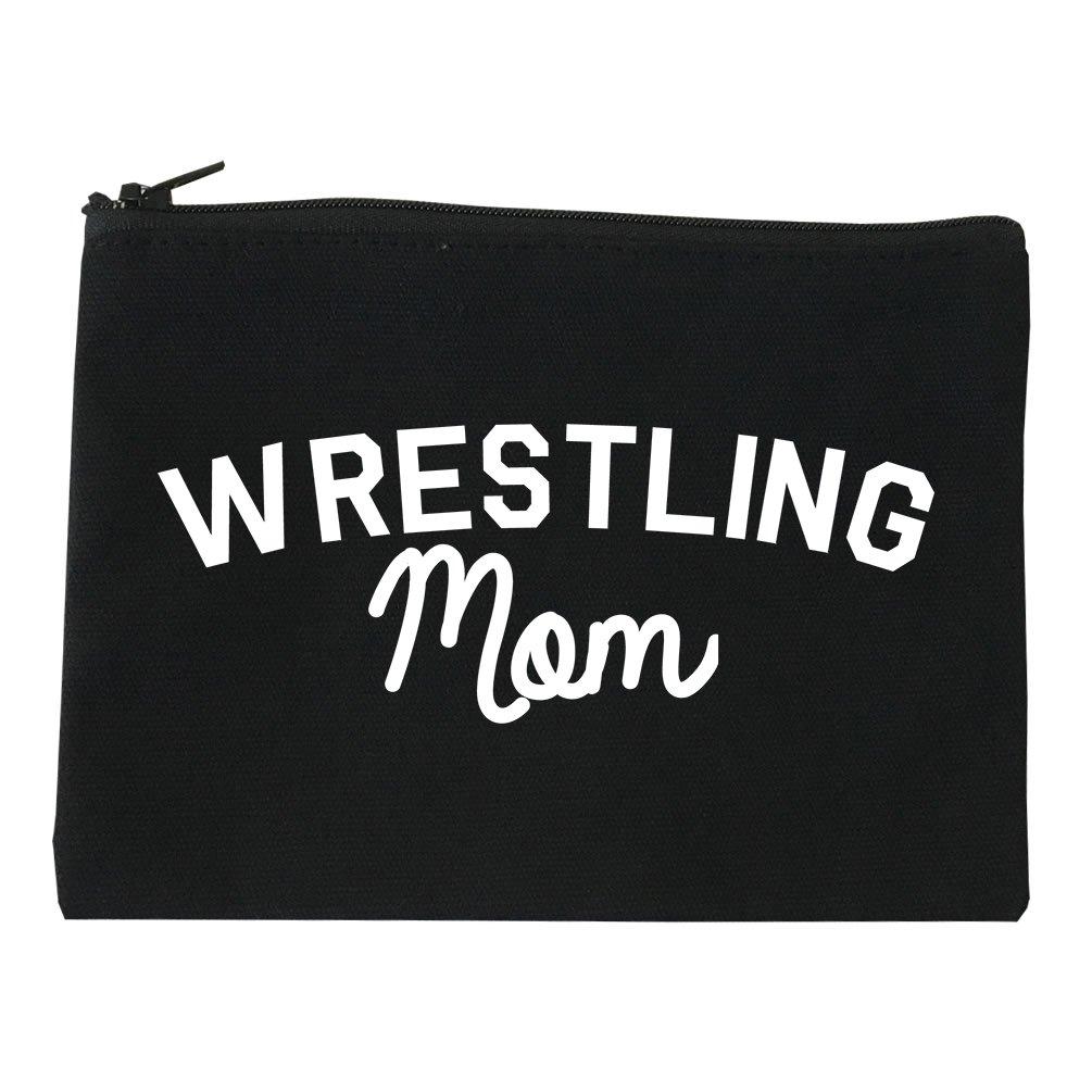 Wrestling Mom Sports Cosmetic Makeup Bag Black Large