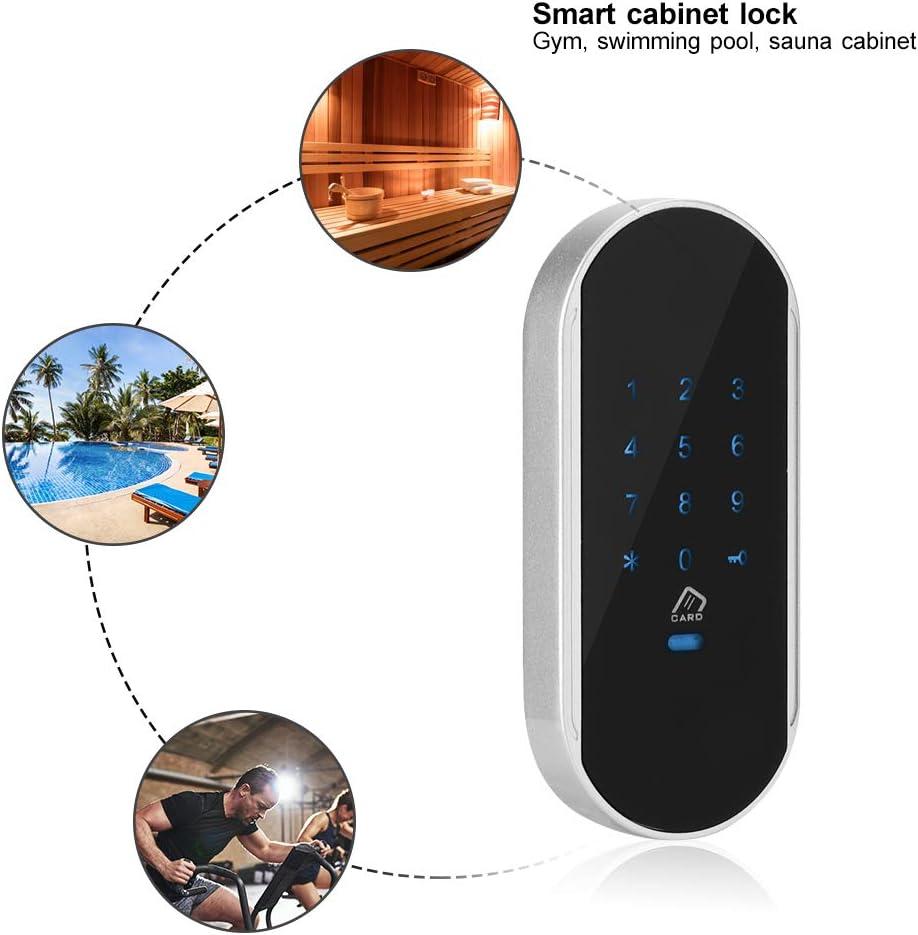 gabinete Cerradura de cifrado para sauna gimnasio Cerradura inteligente armario Cerradura inductiva electr/ónica con pantalla t/áctil que desbloquea m/últiples formas: Contrase/ña//Tarjeta