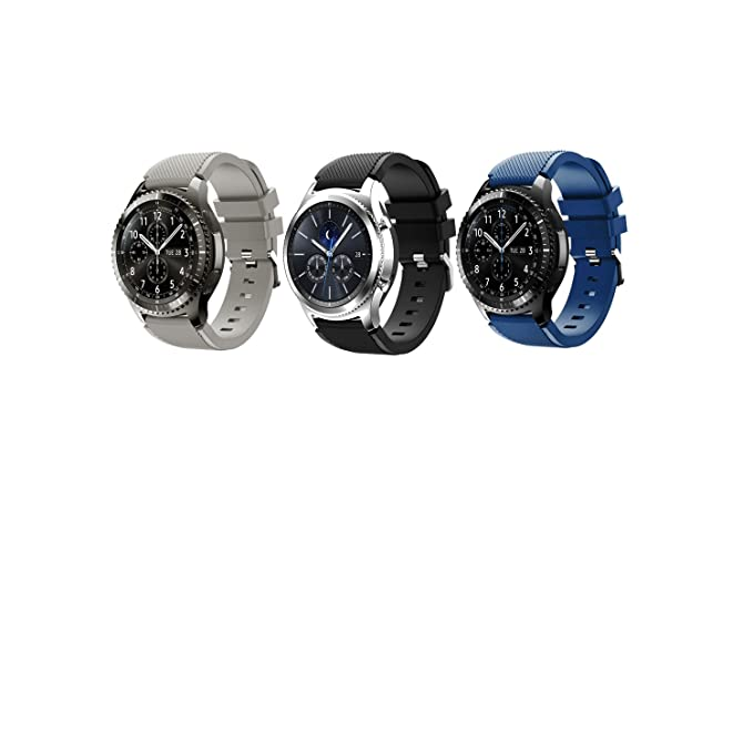 3 opinioni per Tabcover Smart Watch Cinturino,3 Colors 22mm Soft Silicone Sports Replacement