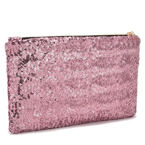 Lady Prom Bag Bling Party Women Wallet Shiny Sequins Handbag Evening Clutch Pink Sparkling Purse Glitter Fashion Pink 5R1zgWUq