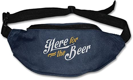 Waist Purse Here for The Beer Word Unisex Outdoor Sports Pouch Fitness Runners Waist Bags