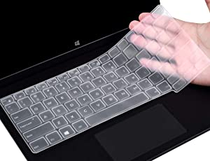 CaseBuy Dell Latitude Keyboard Cover 12.5 inch for Dell Latitude E7250 E7270 7280 7290 E5250 E5270 / Dell Latitude 7370 7380 7389 7390 13.3 inch Laptop Anti Dust Waterproof Protective Skin, Clear