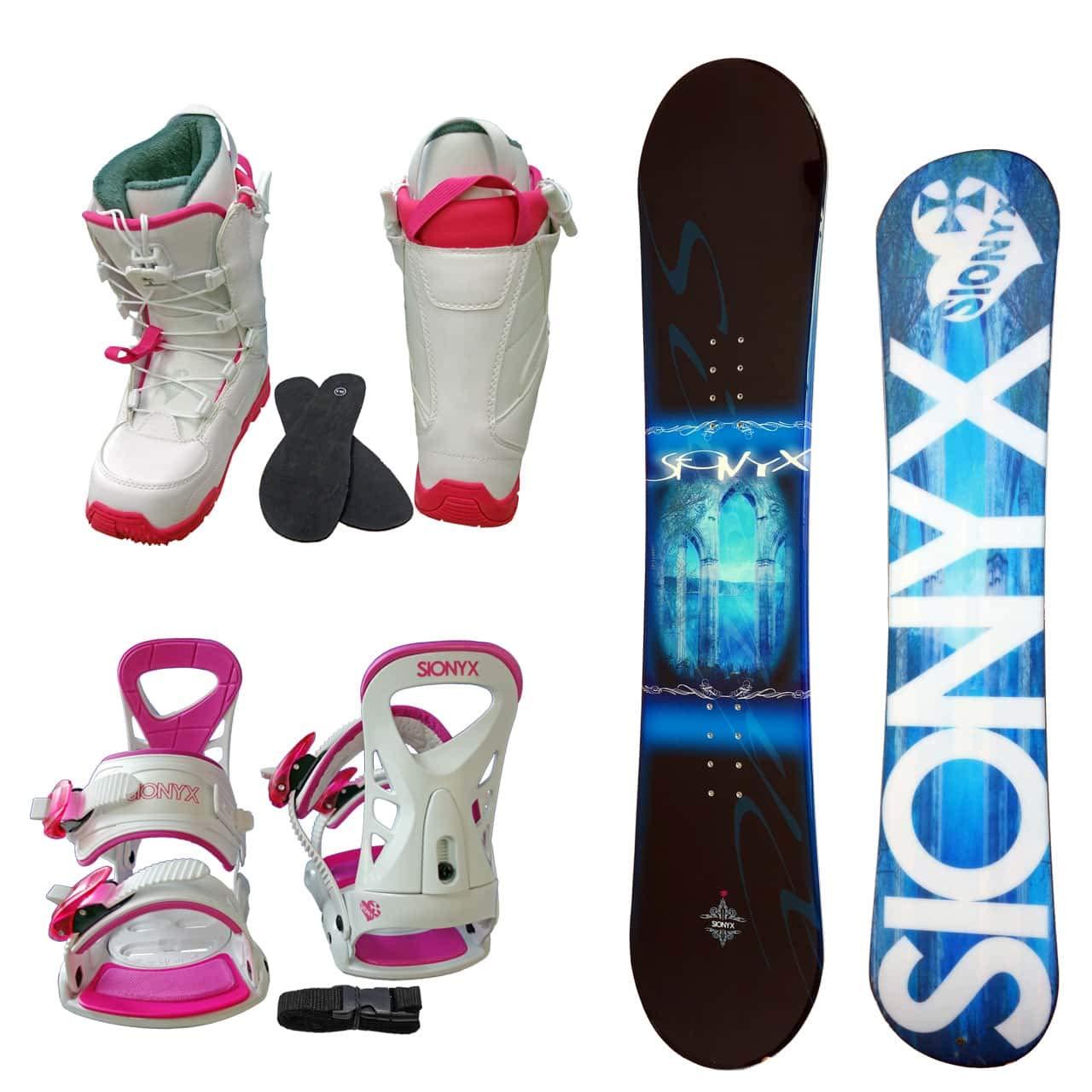 SIONYX レディース スノーボード3点セット スノボー+バインディング+クイックシューレースブーツ MONTE B07JKDMSGF ボード 140+boots 23.0|ボード サックス+binding ホワイト+boots ホワイト ボード サックス+binding ホワイト+boots ホワイト ボード 140+boots 23.0