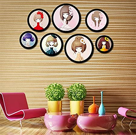 8 Inch Round Photo Frames Black DIY Hanging Office Home Picture ...