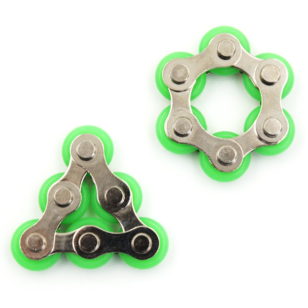2 Pcs Roller Chain Fidget Toy,Bike Chain Fidget Toys for ADD,ADHD,Anxiety,and Autism by TOYZHIJIA The glass Heart