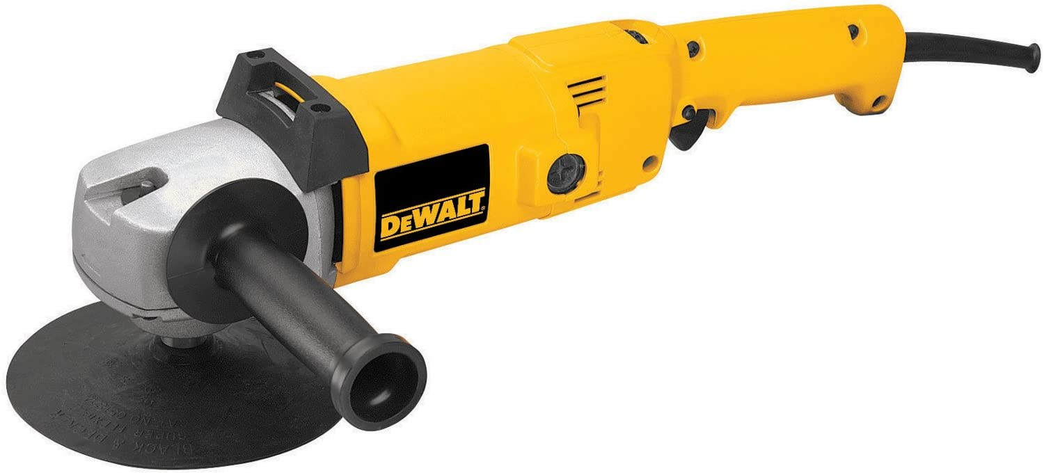 DEWALT DW849 8 Amp 7-Inch 9-Inch Electronic Variable-Speed Right-Angle Polisher