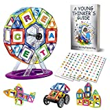 Magnetic Building Blocks - 3D Magnet Tiles STEM Toys Set, Educational Toy, 84 PCS + 200 Stickers, Construction Stack Magnets Kit, Creative Toddler Game For Boys and Girls 2, 3, 4, 5+ Years Old Kids