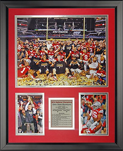 Legends Never Die Ohio State 2014 CFP Football National Champion - Celebration - Framed Photo Collage, 16