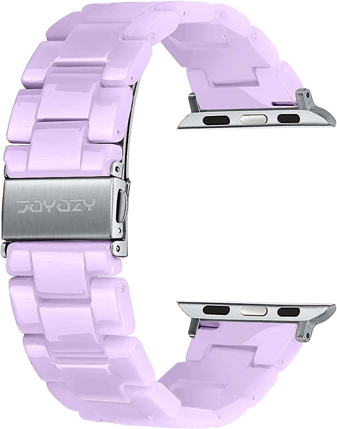Joyozy Compatible with Apple Watch Bands 38mm 40mm 42mm 44mm, Resin Wristbands Replacement for iWatch SE& Series 6/5/4/3/2/1 for Women Men Gift Fashion Bracelet-(38mm/40mm, Lavender Purple)