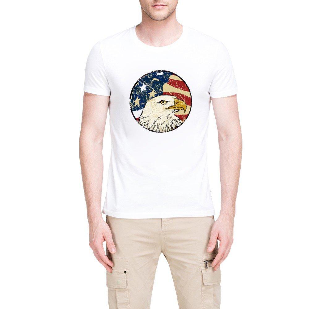 Loo Show Bald Eagle America Flag Short Sleeve T Shirt Funny Tee