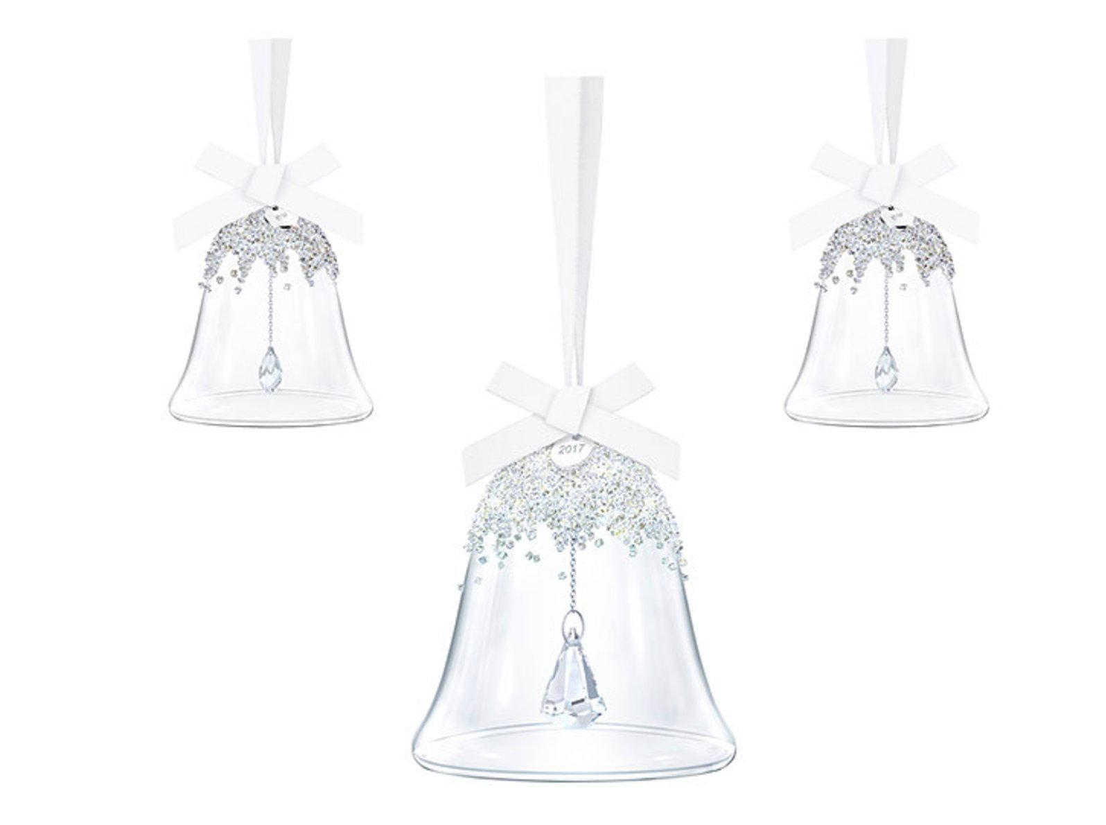 Swarovski Christmas Bell Ornament Set, Annual Edition 2017 5268013