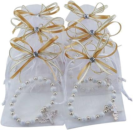 Amazon.com: 12 pulseras con diseño de cruz de alas de ángel ...