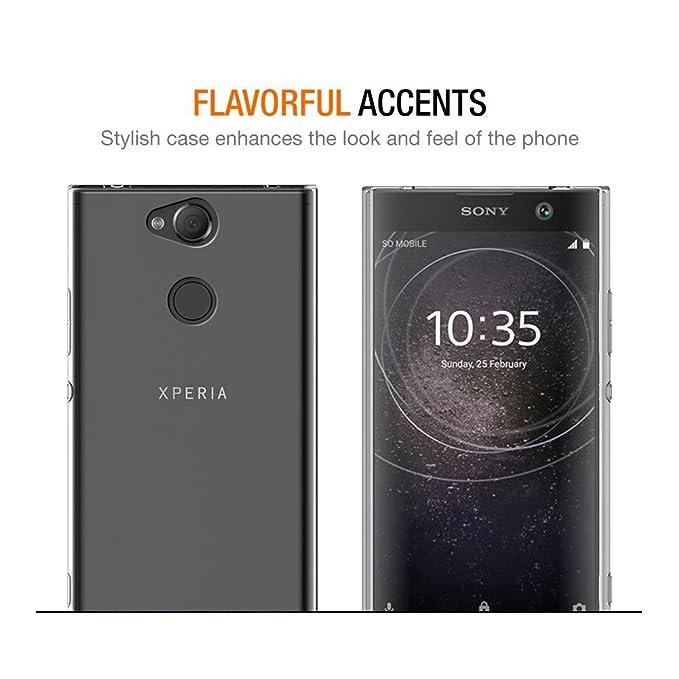 Eouine Funda Sony Xperia L2, Cárcasa Ultrafina Silicona 3D Transparente con Dibujos [Antigolpes] Gel TPU Protector Bumper Case Cover Fundas para Movil Sony ...
