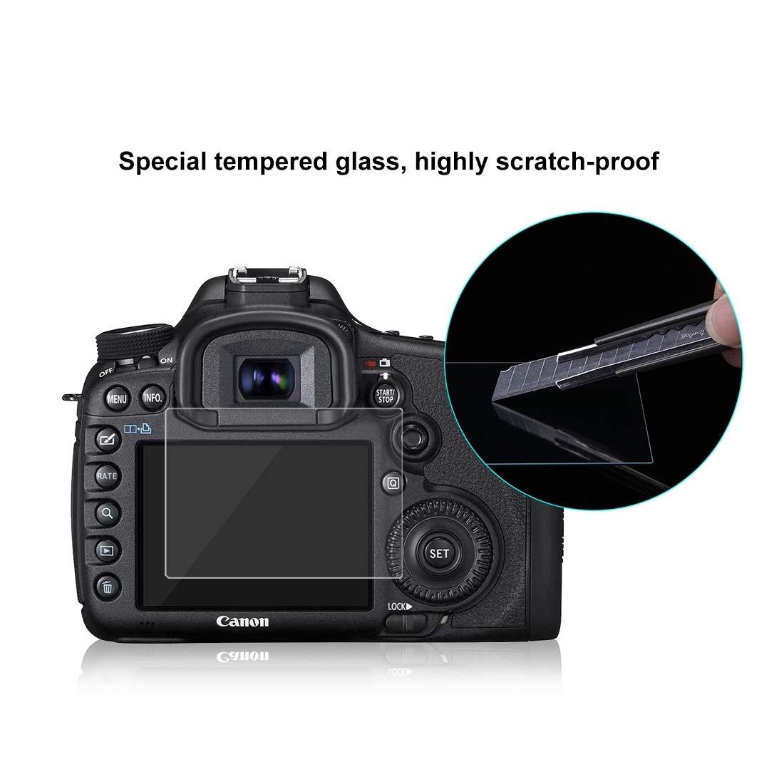 ShenBiadolr Screen Protector Foils 60 PCS PULUZ 2.5D Curved Edge 9H Surface Hardness Tempered Glass Screen Protector Kits for Canon 5D Mark IV Mark III Sony RX100 A7M2 A7R A7R2 Nikon D3200 D3300 Panas