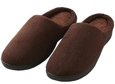 Bestfort Hausschuhe Herren Damen Winter Plüsch Baumwolle Wärme Pantoffeln Weiche Home Rutschfest Slippers Weiche Leicht für Unisex (XS/EU 35-36, Violett)