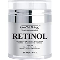 New York Biology Retinol Cream Moisturizer for Face and Eye Area - Anti Aging Infused...