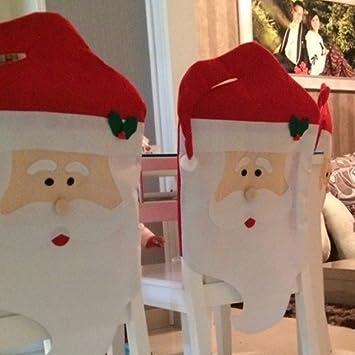 soxid (TM) cláusula de Papá Noel cara fundas para sillas de cocina silla cubre feliz Navidad vacaciones Festival Decoración de interior.: Amazon.es: Hogar