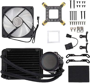 ASHATA Ventilador de enfriamiento,Jonsbo TW2-120 Agua CPU ...