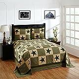 Better Trends/ Pan Overseas Star Bedspread, 102'' x 110''/Queen, Green Gold