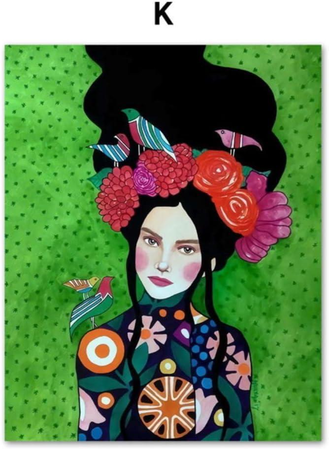 Moderno pintura al óleo moda Vintage mujer maquillaje belleza ...