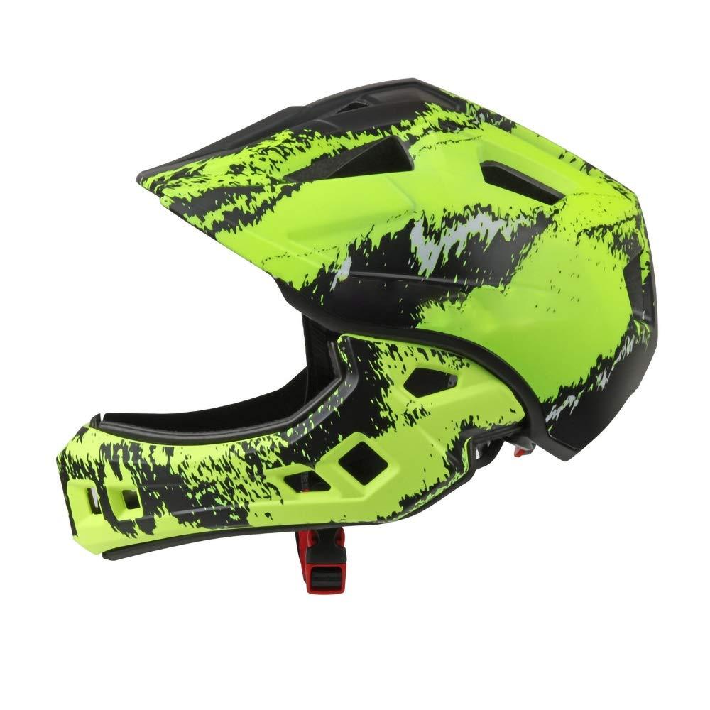 キッズヘルメット 6つの素晴らしいデザインのキッズサイクルヘルメット - サイクリング、スケート、スクーティング用 - 調節可能なヘッドバンドベントデザイン - 4、5、6、7、8、9、10、11歳のお子様に最適(52-56cm用) (Color : Green)   B07PY8CMSD