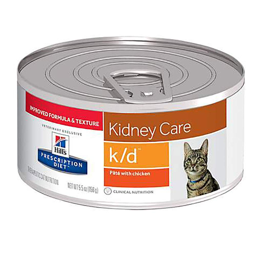 Hill's Prescription Diet k/d Feline Renal Health - Pate with Chicken - 5.5 ounces - 24 cans by HILL'S PRESCRIPTION DIET
