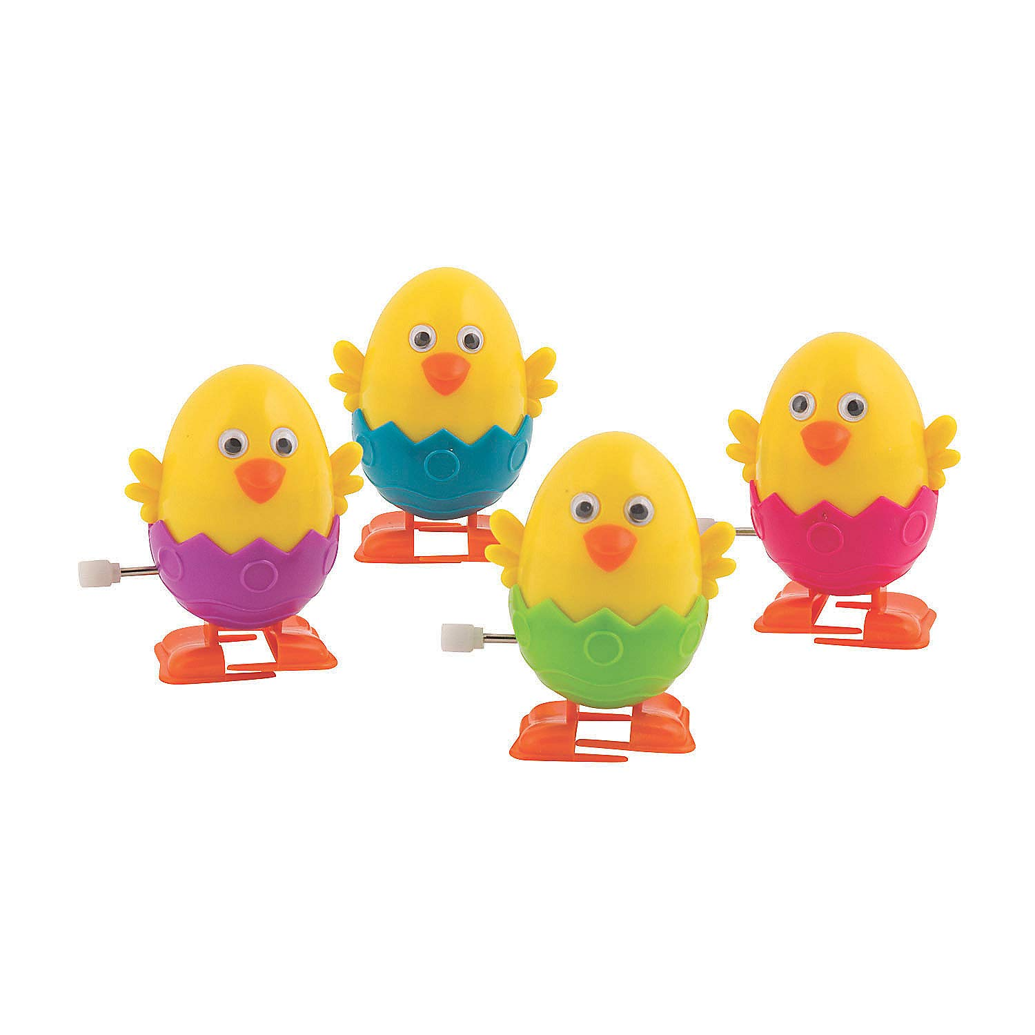 Fun Express - Easter Egg Wind-Ups for Easter - Toys - Character Toys - Wind Ups & Paratroopers - Easter - 12 Pieces by Fun Express