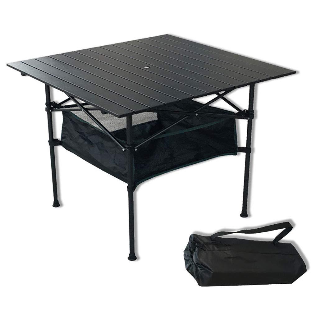 WLIXZ Camping Klapptisch, Tisch, Portable Compact Tisch, Klapptisch, Ideal Für Outdoor, BBQ Oder Spielkarten, Mit Tragetasche, Schwarz c92457