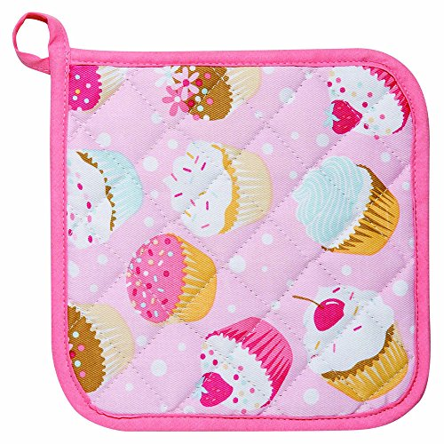 Cupcake Pot Holder - Kitchen Style by Now Designs Potholders, Cupcakes, Set of 2