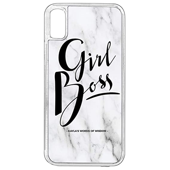 competitive price a17b3 974e6 Amazon.com: iPhone X Back Case,iPhone X Crystal Case Girl Boss Cover ...
