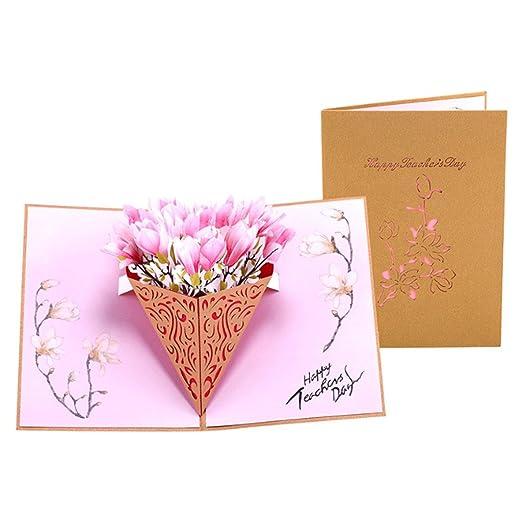 Fogun 3D Magnolia Pop Up Tarjetas Papel Regalo Cumpleaños ...