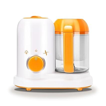 Batidora eléctrica para bebés, Flyspin 2018, 4 en 1, apta para cocinar al